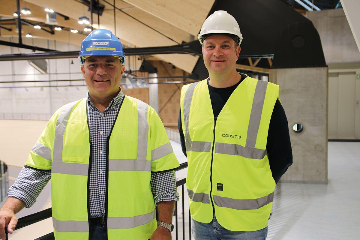 Prosjektsjef Kurt Hermansen (t.v.) og prosjektleder Karl Anton Eriksson i Consto Sør.
