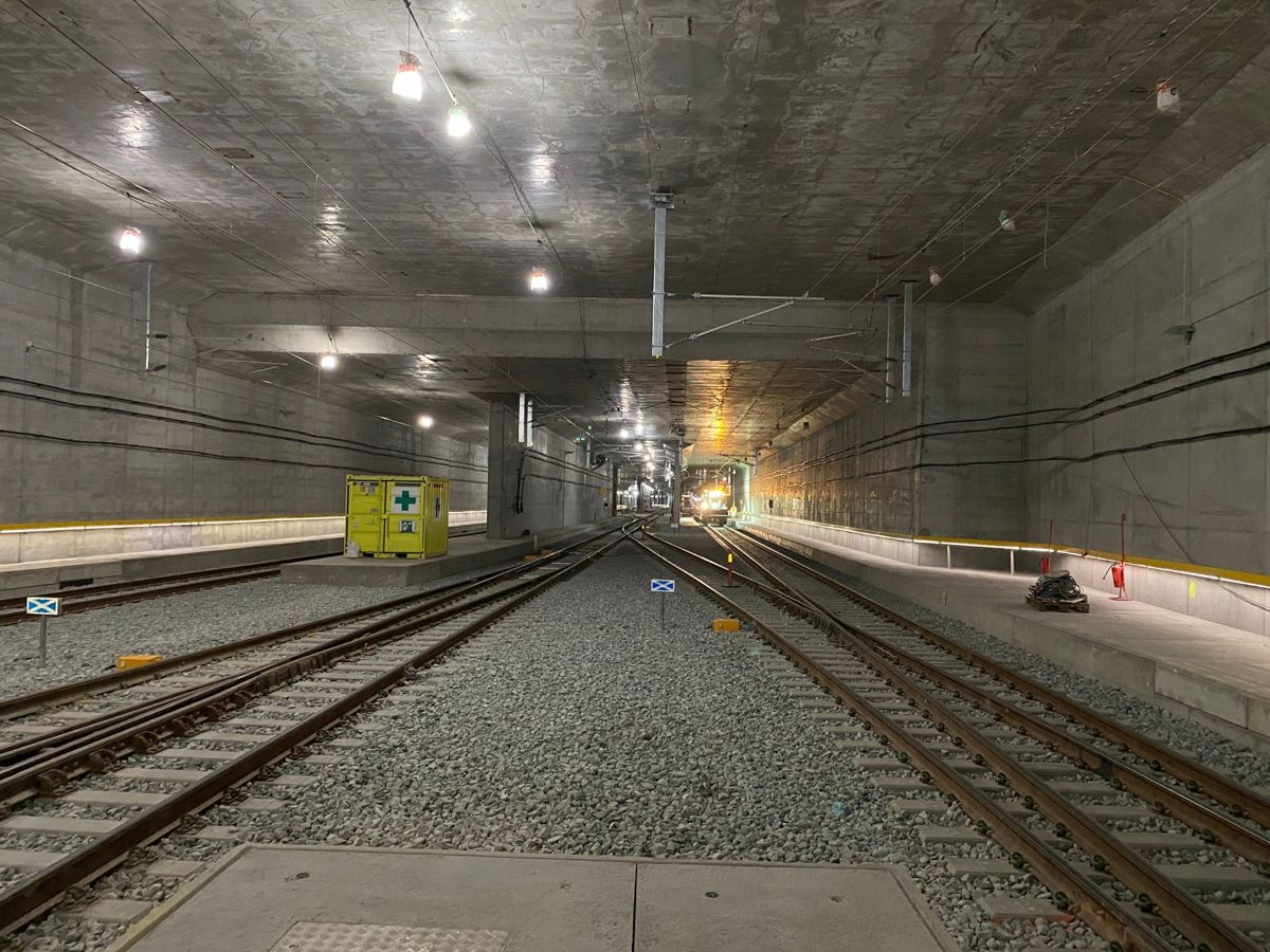 Under Oslo. Her er jernbanesporene samlet i en betongtunnel under Middelalderparken. Foto: Bane NOR