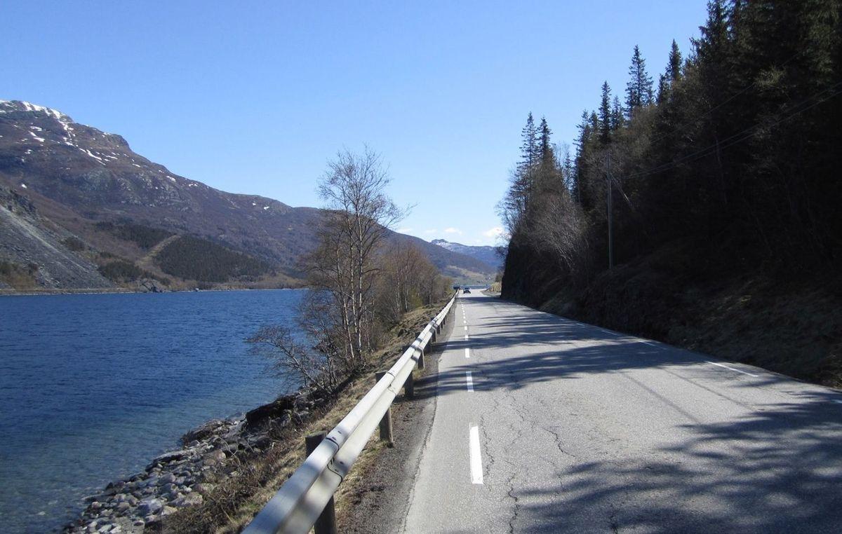 E16 Turnes-Øye i Valdres skal utbedres for å bli tryggere og bedre. Foto: Statens vegvesen