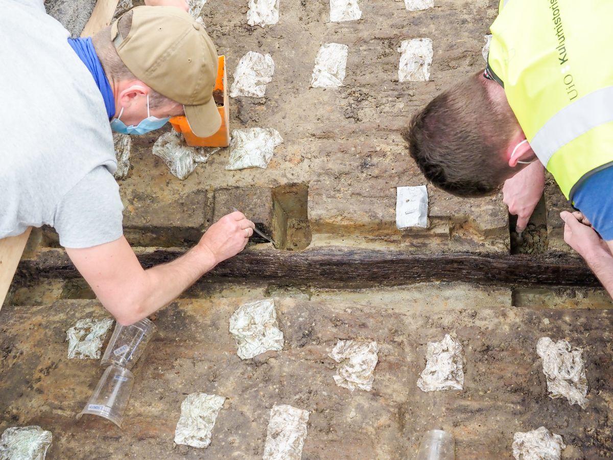 Arkeologer har jobbet med utgravingen i nesten et år. Foto: Kulturhistorisk museum / NTB