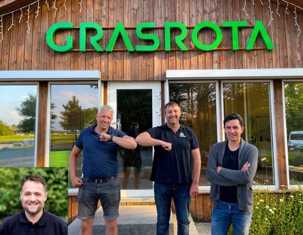 Jon Løkkeberg (f.v), Jakob Årsvoll, Jarle Borsheim og Bengt Tovslid. Foto: Grasrota