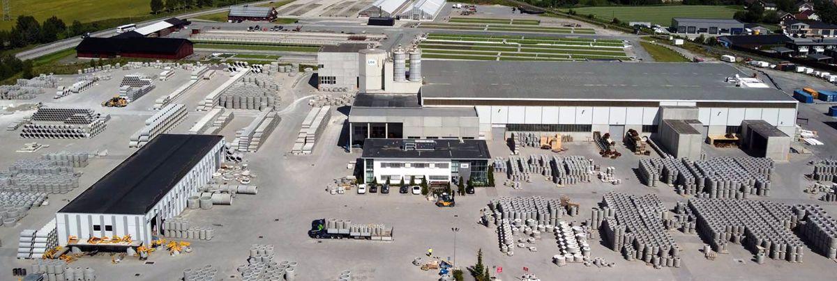 Fra fabrikkanlegget i Hokksund. Foto: Loe Rørprodukter