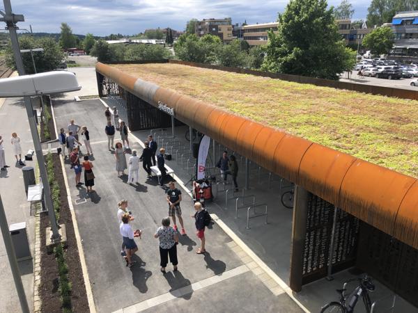 Det nye sykkelhotellet på Ås ble åpnet denne uken.