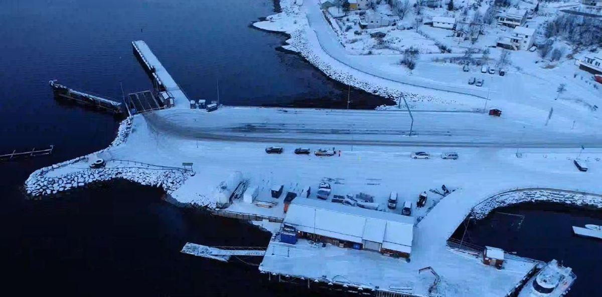 Slik ser fergeleiet ved Kjøpsvik ut i dag. Foto: Statens vegvesen