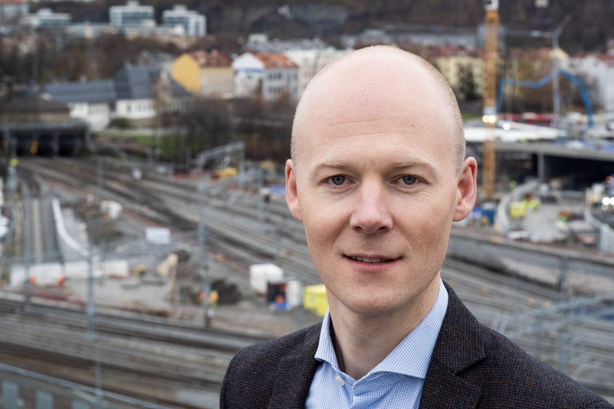 Oskar Stenstrøm er godsdirektør i Bane NOR. Foto: Thor Erik Skarpen / Bane NOR