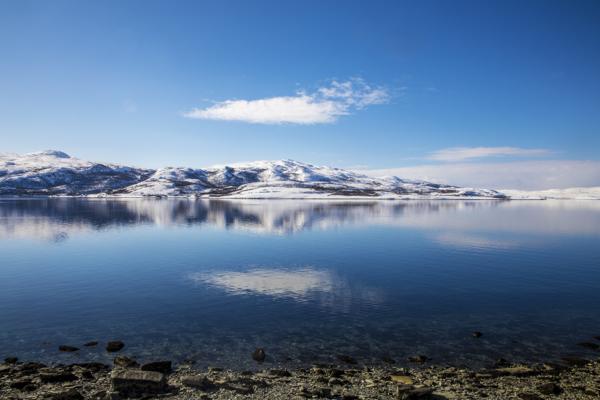 Repparfjorden i Finnmark. Nussir ASA planlegger en kobbergruve i Hammerfest kommune og har fått tillatelse til å dumpe 40 millioner tonn gruveavfall. Foto: Ole Berg-Rusten / NTB