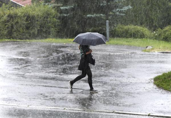 I juli og august i fjor sørget kraftige regnskyll for ødeleggelser verdt 136 millioner, viser forsikringstall. Foto: Vidar Ruud / NTB