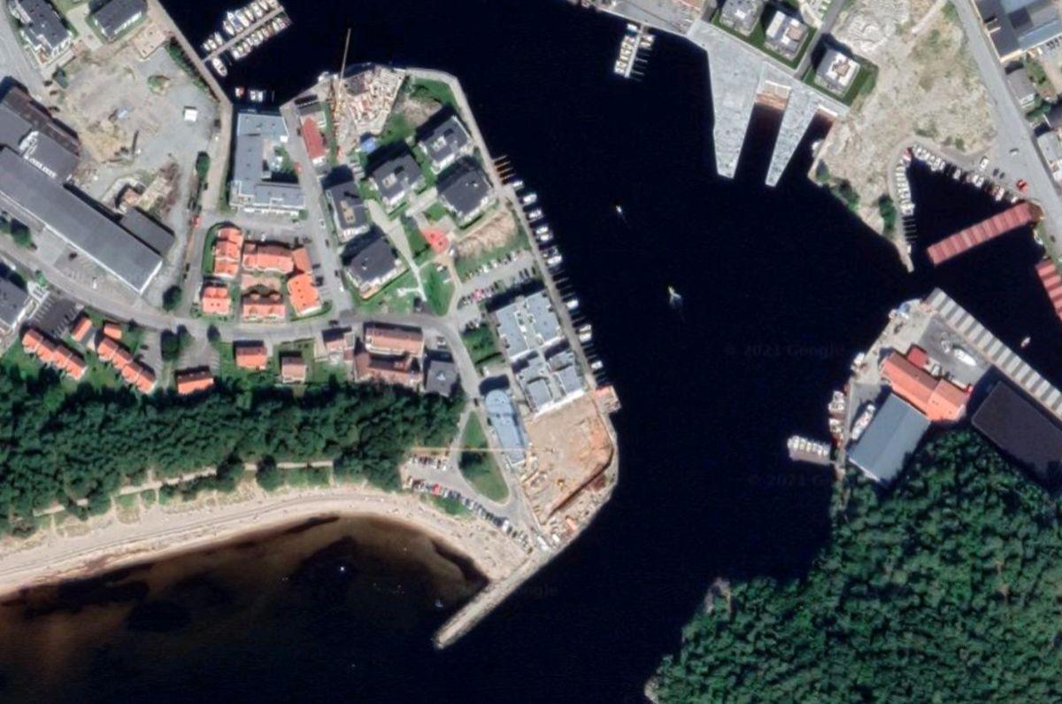 Hollendergata i Mandal. Skjermdump: Google Earth
