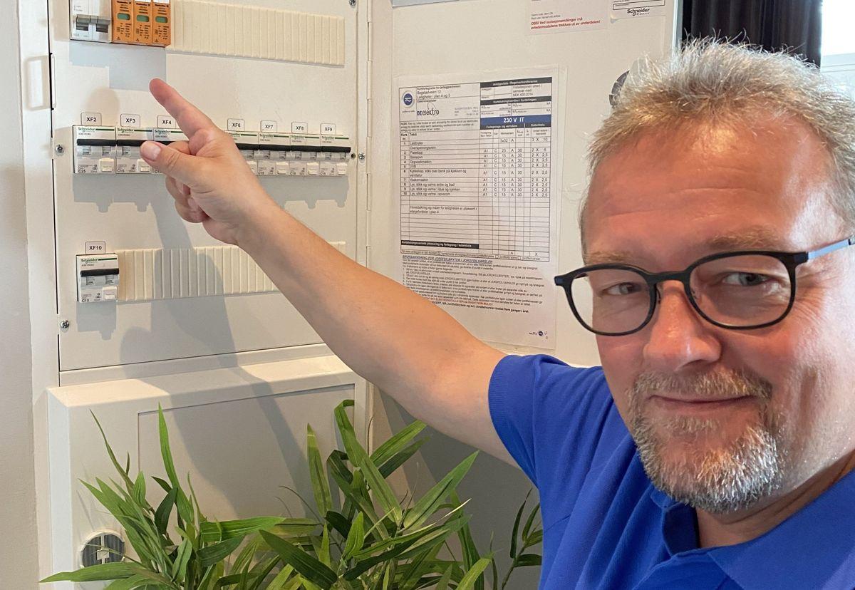 Visepresident i NITO og kommuneingeniør i Kongsvinger kommune, Kjetil Lein i sikringsskapet. Foto: NITO