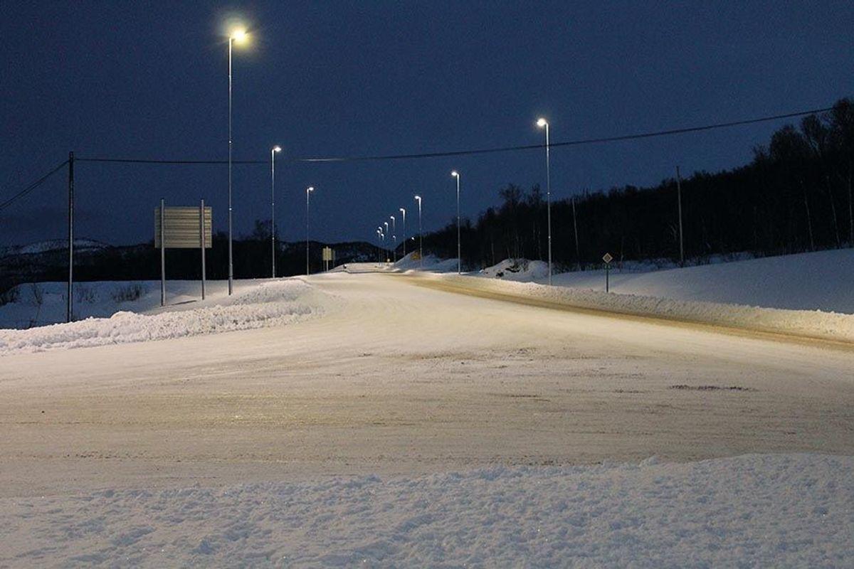 I Langslettkrysset møtes E6 og fv. 866. Foto: Henning Walter Larsen/Statens vegvesen