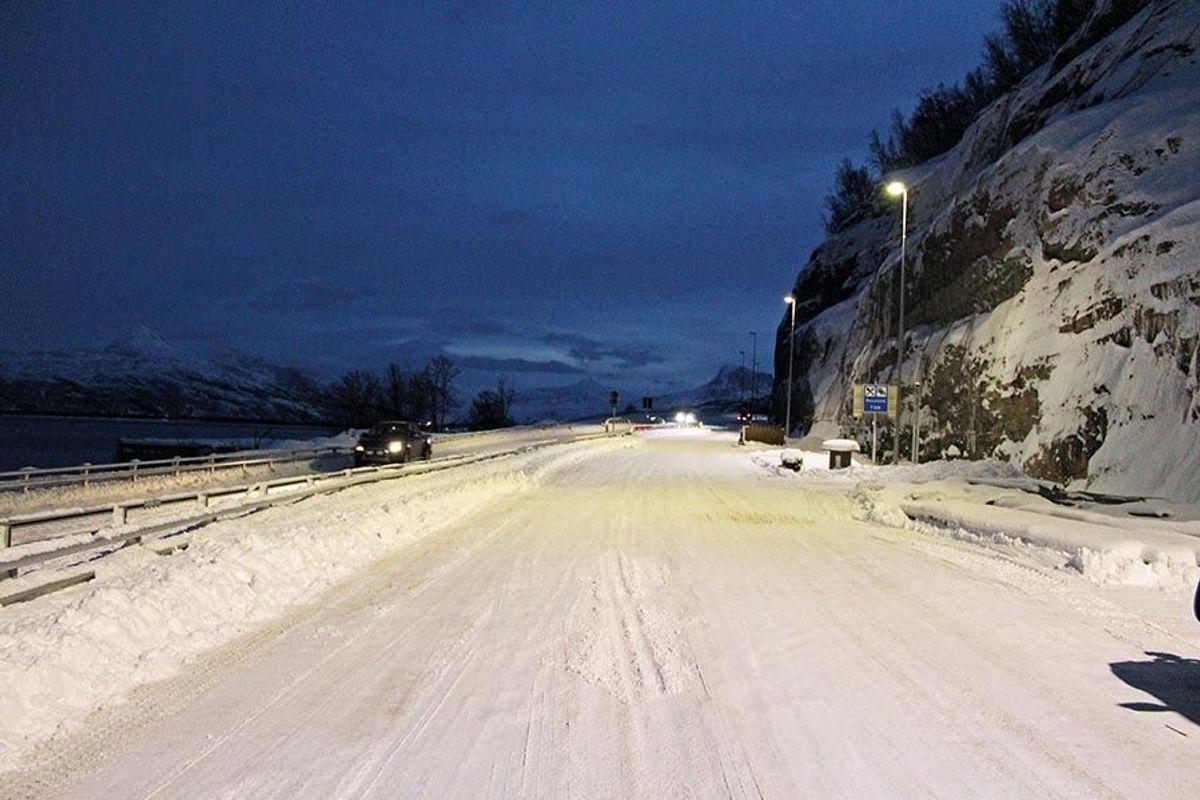 Vei i dagen ved Jubelen på Sørkjosen-siden av tunnelen. Foto: Henning Walter Larsen/Statens vegvesen