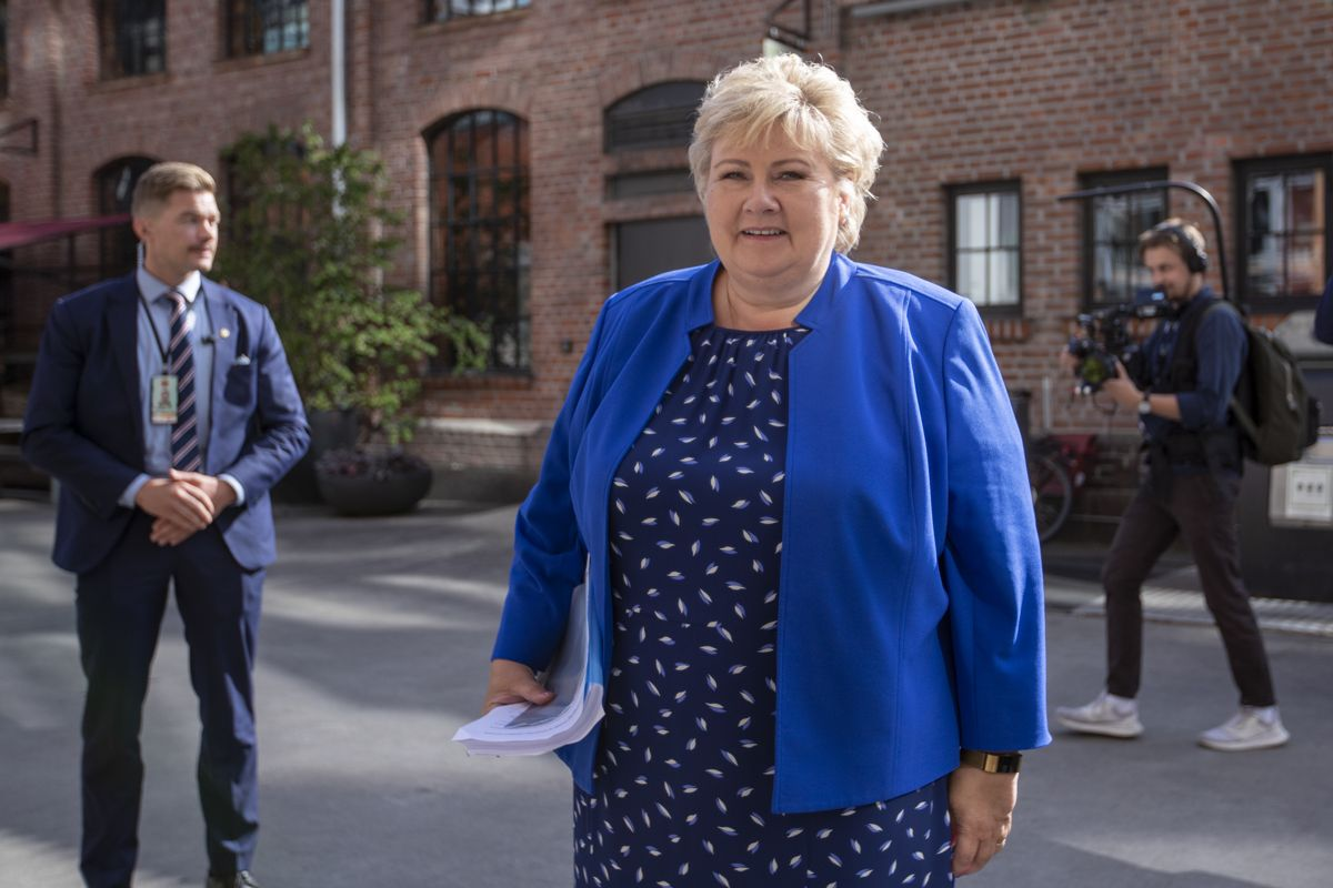 Statsminister Erna Solberg (H). Foto: Javad Parsa / NTB