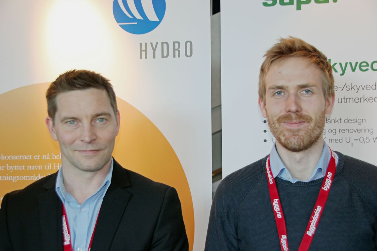 Hydro Building Systems på Byggedagene 2018. Foto: Svanhild Blakstad