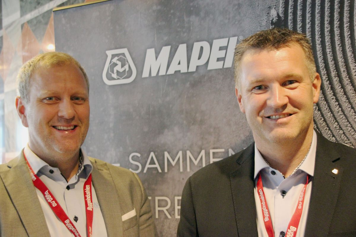 Mapei på Byggedagene 2018. Foto: Svanhild Blakstad