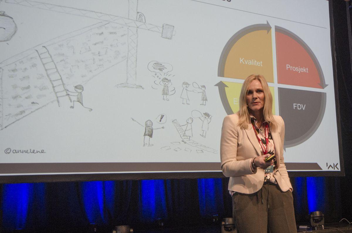 Administrerende direktør Britt Røed Lohne i WK Entreprenør.