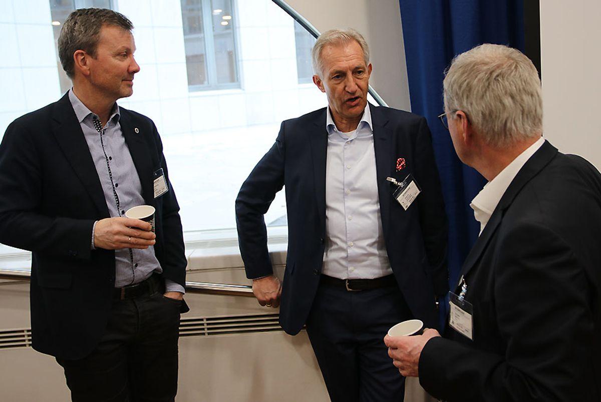 Kjell Kvarekvål (f.v.), Thor-Olaf Askjer og Sverre Tiltnes.