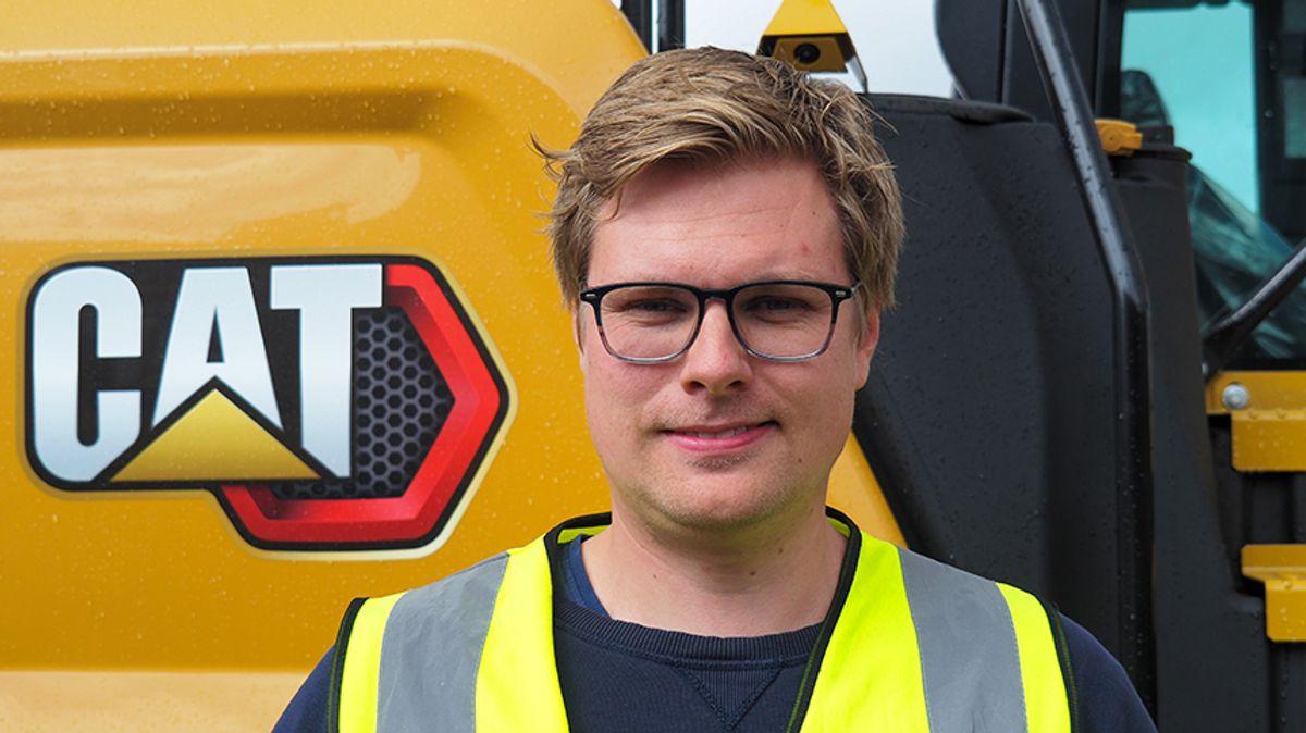 Sondre Karlsen er ny produktsjef for slitestål og understell hos Pon Equipment.