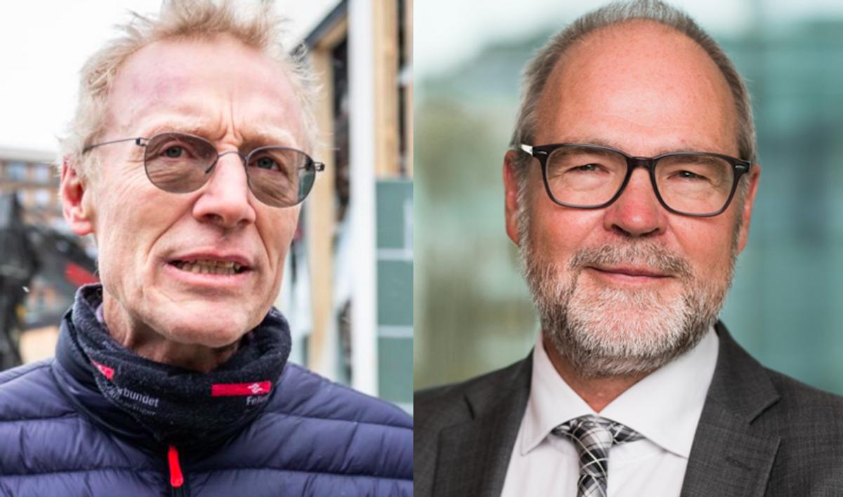 Steinar Krogstad, nestleder i Fellesforbundet og Jørgen Leegaard, samfunnspolitisk direktør i BNL. Foto: John Trygve Tollefsen/Fellesforbundet og BNL