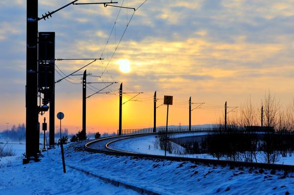 Hovedbanen ved Langeland bru. Foto: Øystein Grue / Bane NOR