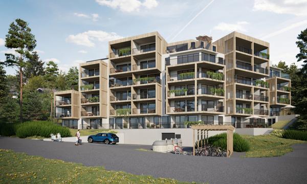 Backe Romerike skal bygge 39 leiligheter i boligprosjektet Bark i Blystadlia i Rælingen kommune.