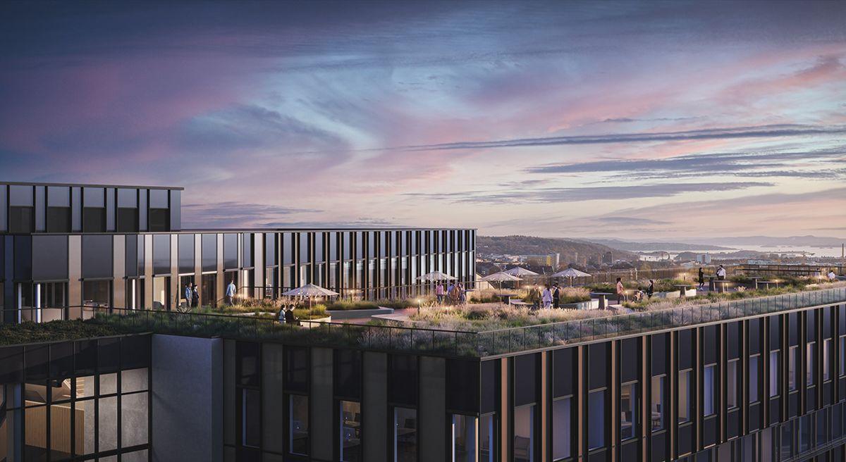 Construction City-bygget. Illustrasjon: 3D Estate