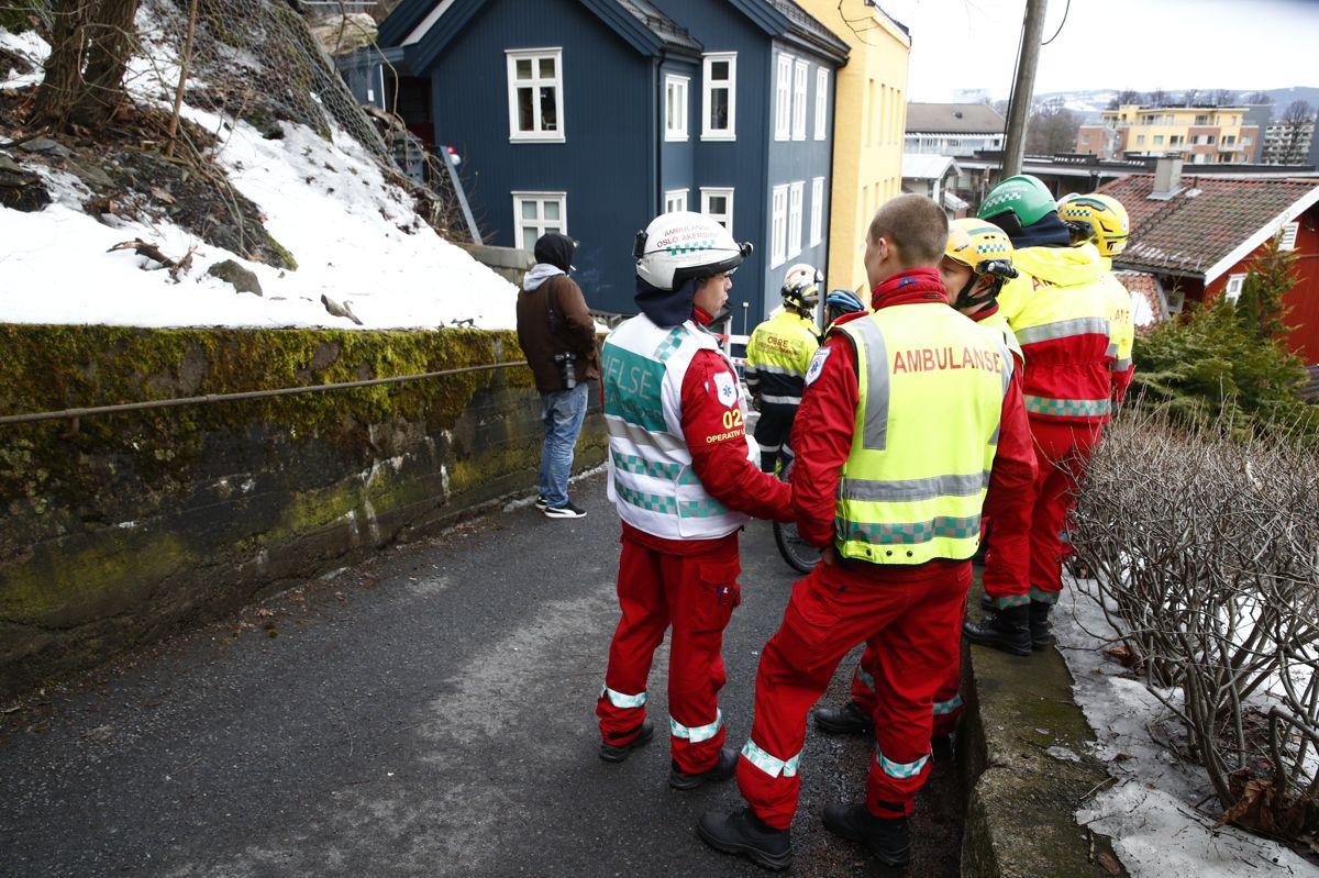 Steinras i Ribbunggata i Oslo. Foto: Terje Pedersen / NTB scanpix