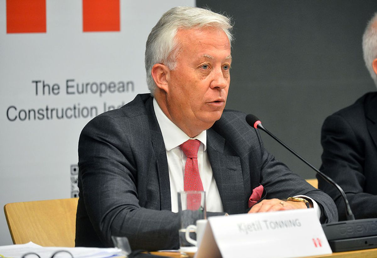 Kjetil Tonning ble onsdag valgt inn som president for FIEC. Foto: FIEC