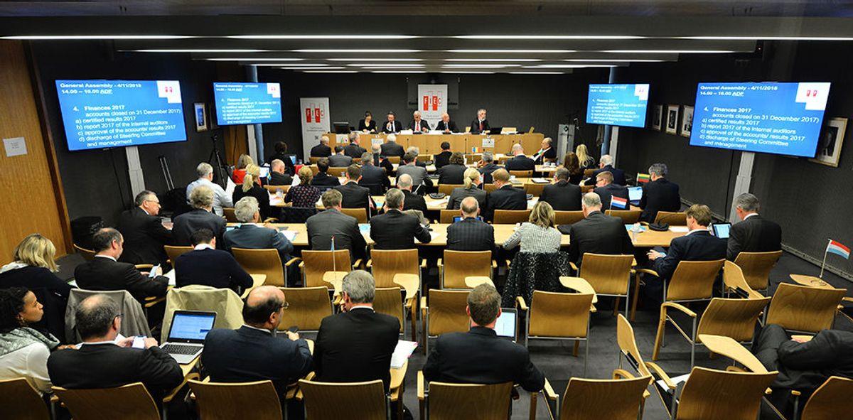 Fra generalforsamlingen i Brussel. Foto: FIEC