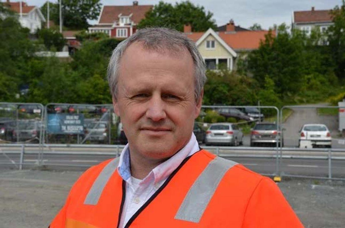 Tom Hedalen, prosjektsjef for E18 Vestkorridoren. Foto: Dagrunn Husum/Statens vegvesen