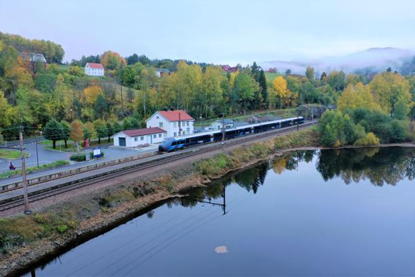 Fra Gjerstad stasjon. Foto: Bane NOR
