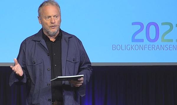 Byrådsleder Raymond Johansen (Ap) i Oslo under Boligkonferansen 2021.