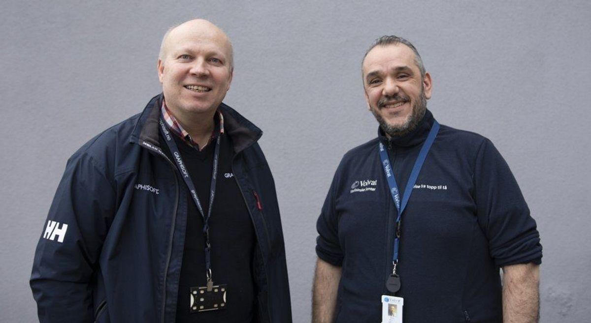 Volvat er godt fornøyd med samarbeidet med Graphisoft, som tilbyr kurs, opplæring og teknisk bistand til å komme i gang med BIM og Archicad. Graphisoft kan bygge ferdige maler som er klare til bruk til neste prosjekt. Mario Rinaldi, teknisk sjef i Volvat-gruppen og Frode Saltkjelvik, teknisk sjef i Graphisoft Norge.