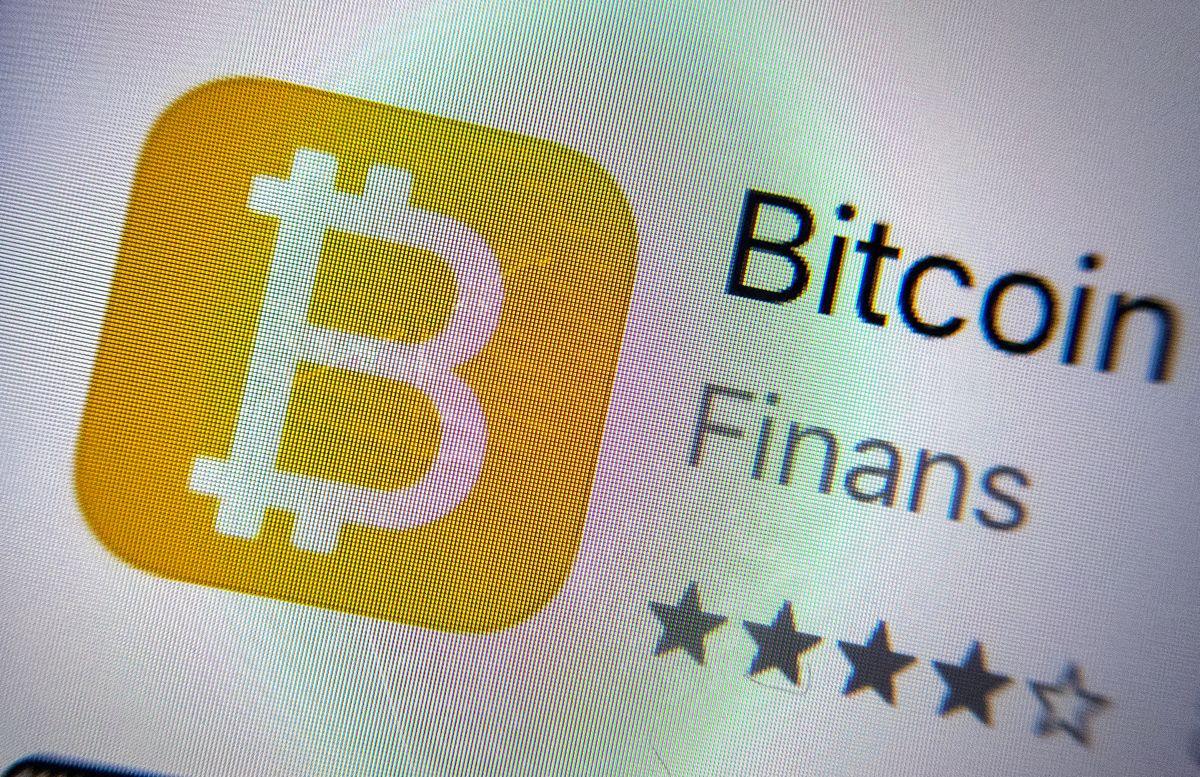 Bitcoin-appen på mobil. Illustrasjonsfoto: Gorm Kallestad / NTB