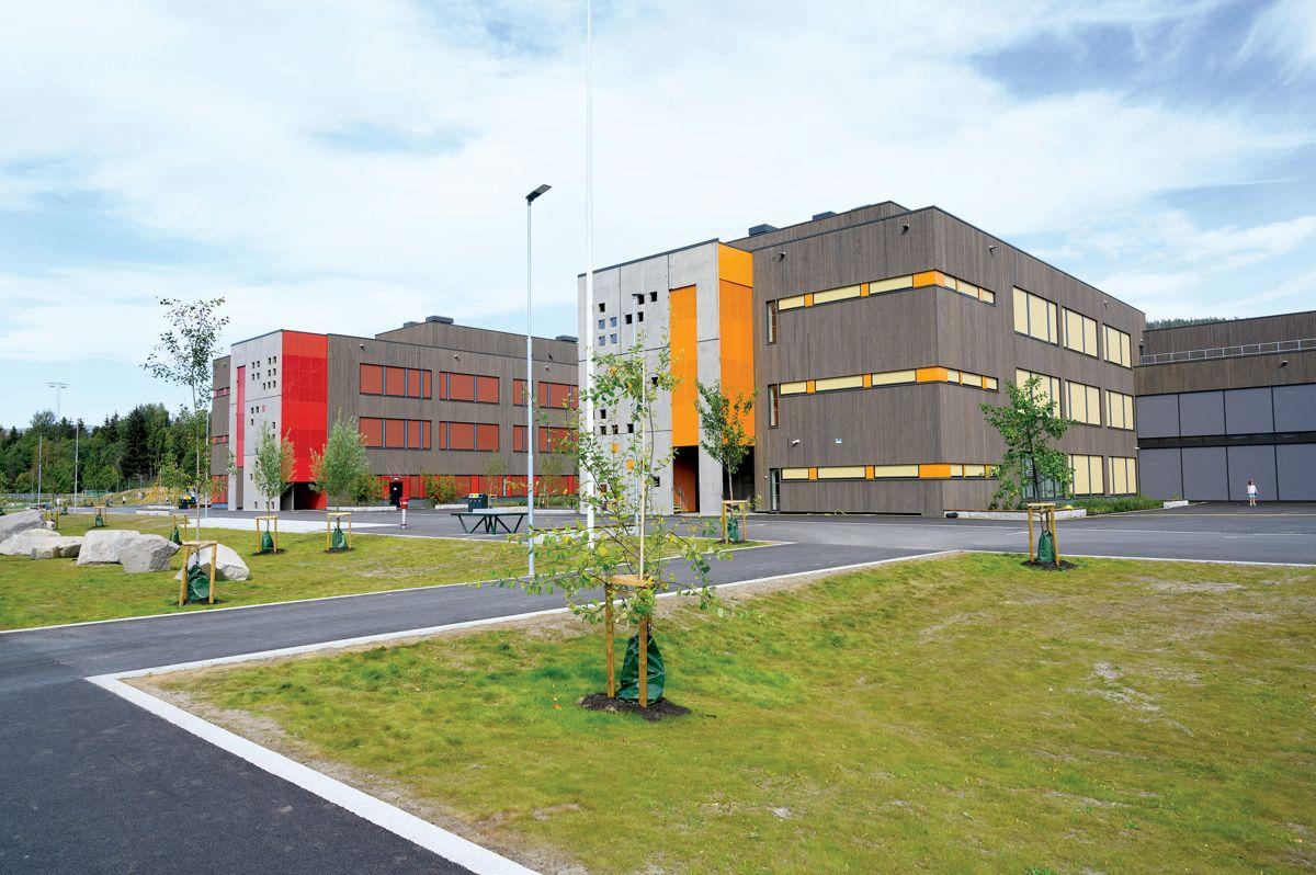 Elvetangen skole, Hakadal i Nittedal, 31.8.2021. Foto: Trond Joelson, Byggeindustrien