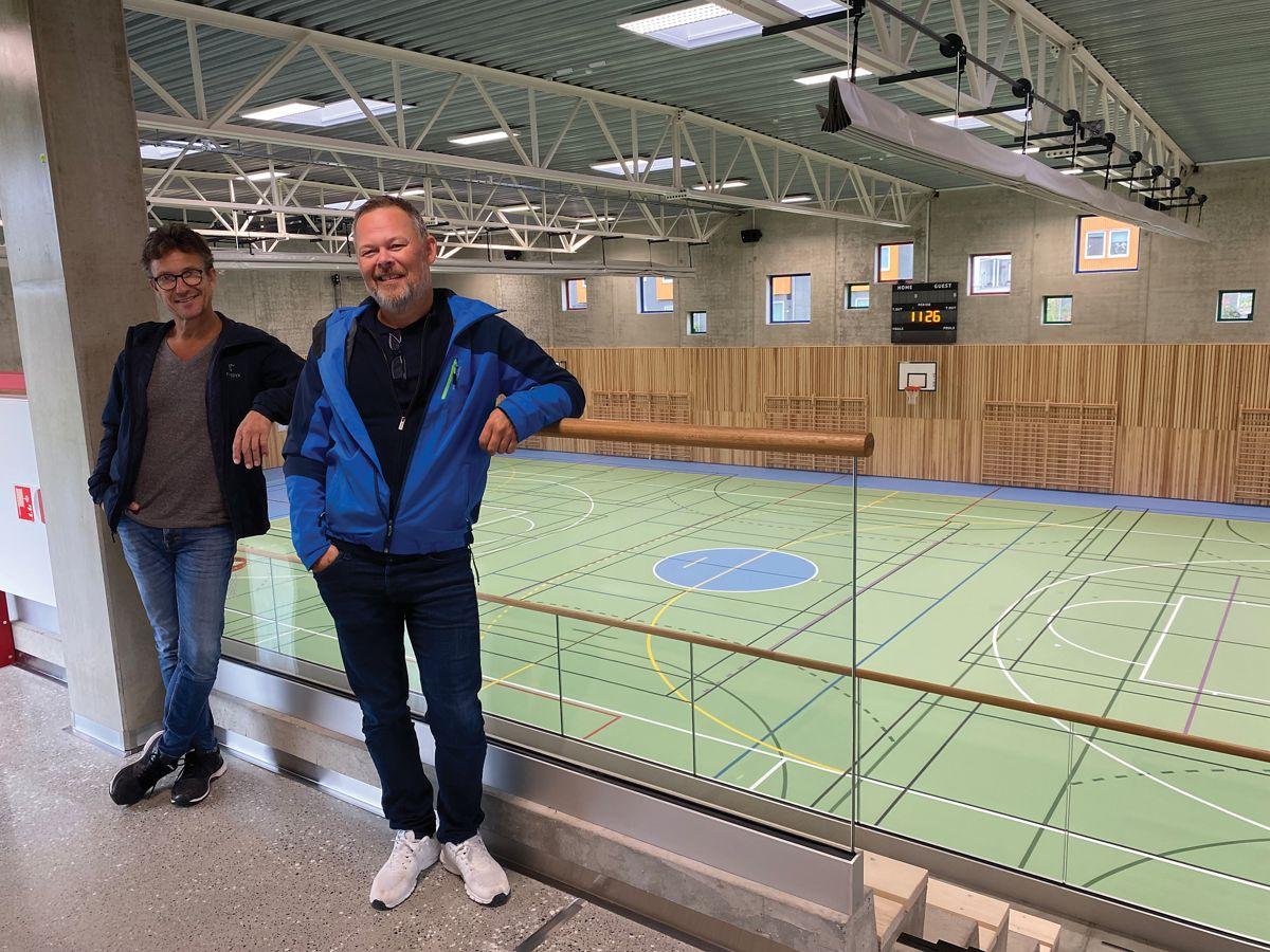 Fra v. anleggsleder Gunnar Harestad og prosjektleder Tom Mikal Reianes fra Backe Rogaland.