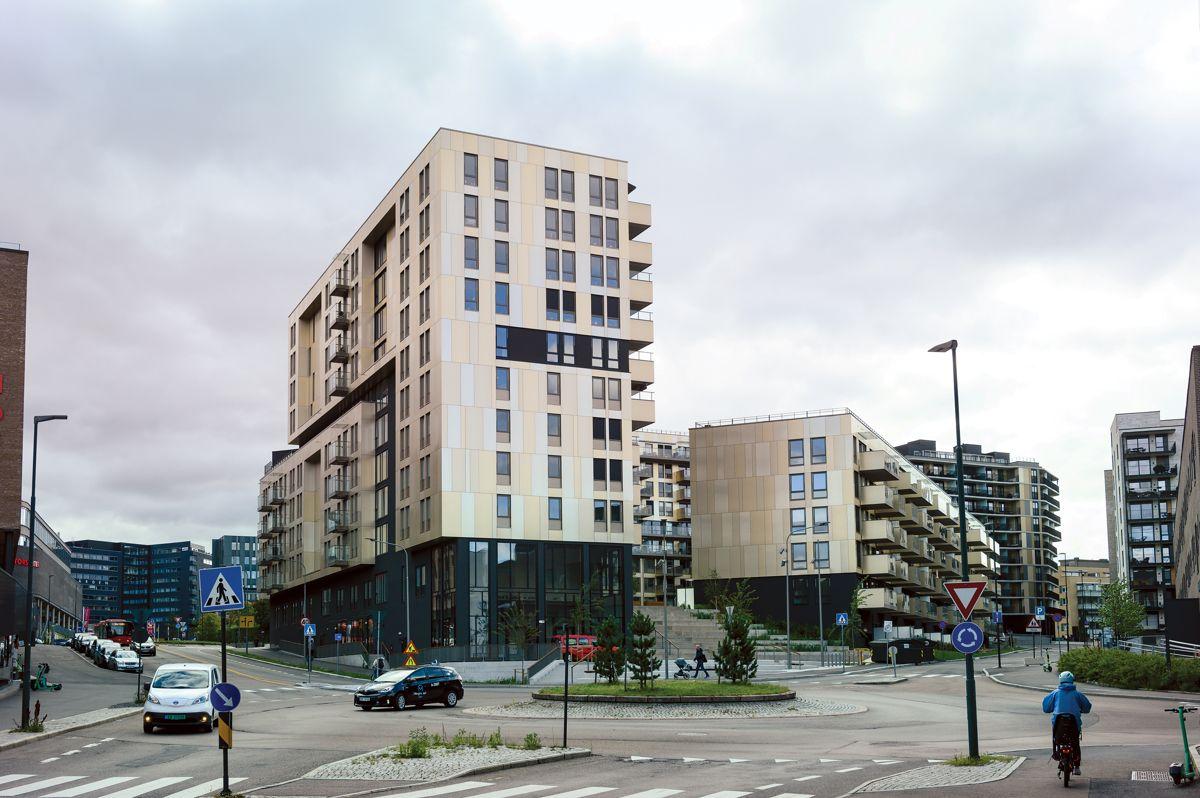 Nygaardskvartalet på Storo i Oslo, 27.8.2021. Foto: Trond Joelson, Byggeindustrien