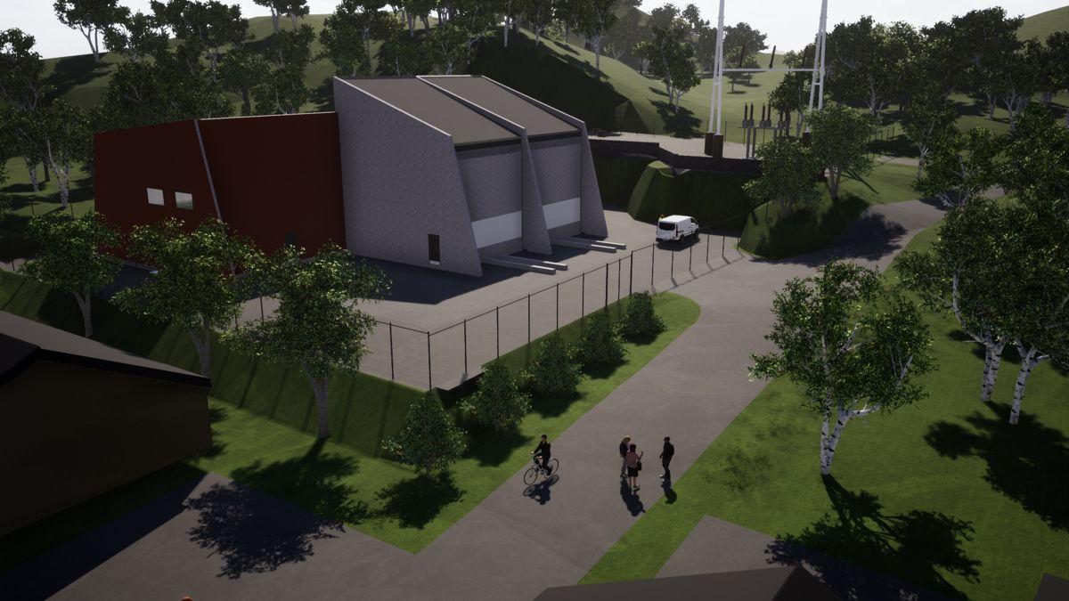 Slik skal den nye transformatorstasjonen på Hjelmeland bli. Illustrasjon: Lyse Elnett.