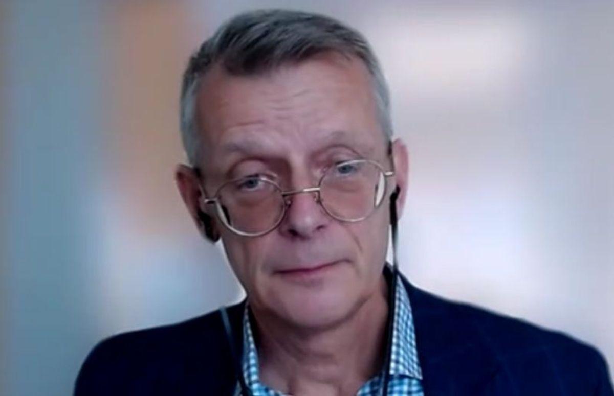 Johan Olof Freij, virksomhetsområdesjef for skog og landbruk i Danske Bank. Skjermdump