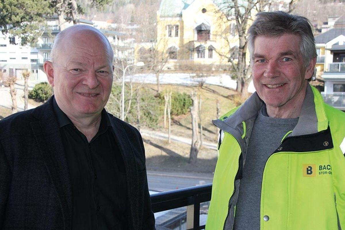 Produksjonssjef Ronald Helander og anleggsleder Svend Stephensen i Backe Stor-Oslo.