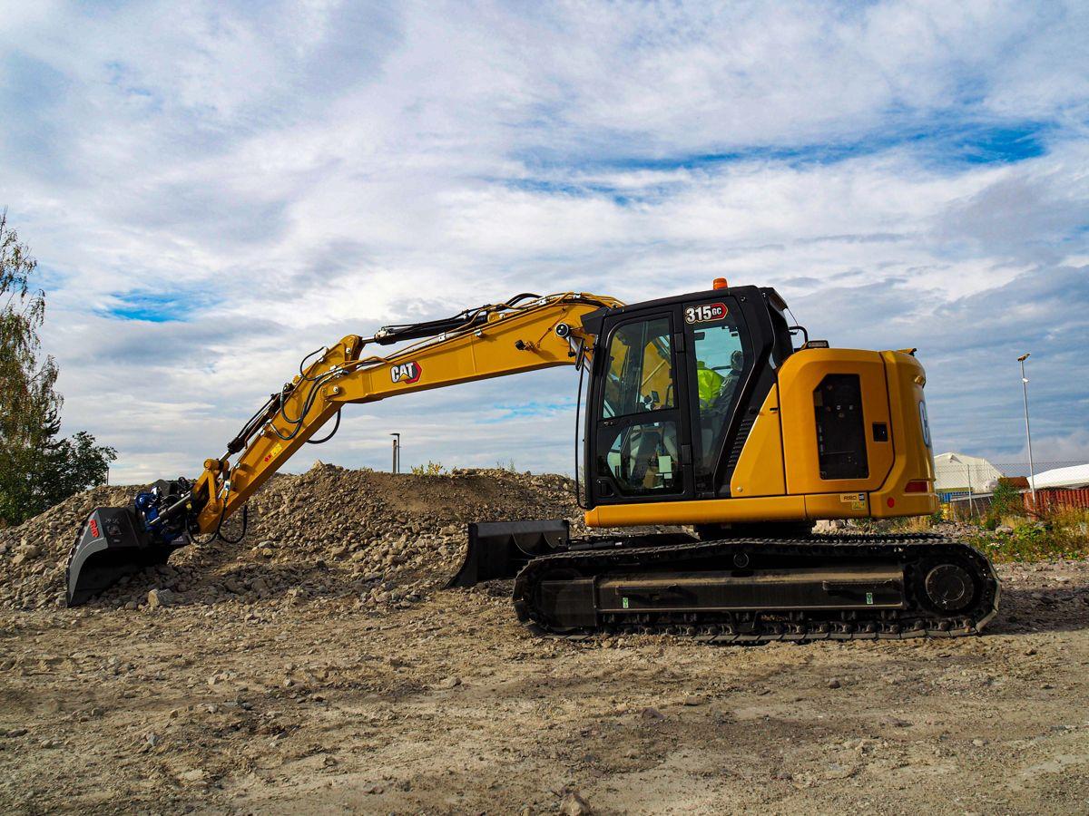 Cat 315 GC er den første GC-gravemaskinen som er tilgjengelig i Norge.