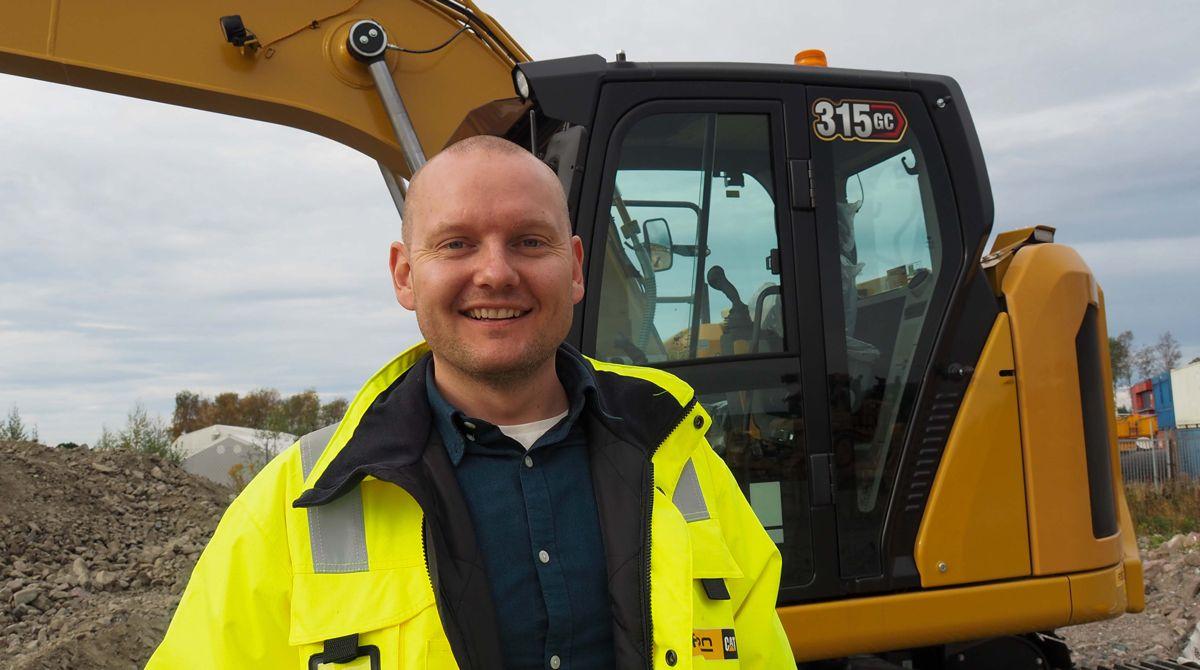 Marius Halnes, produktsjef for Cat gravemaskiner i Pon Equipment