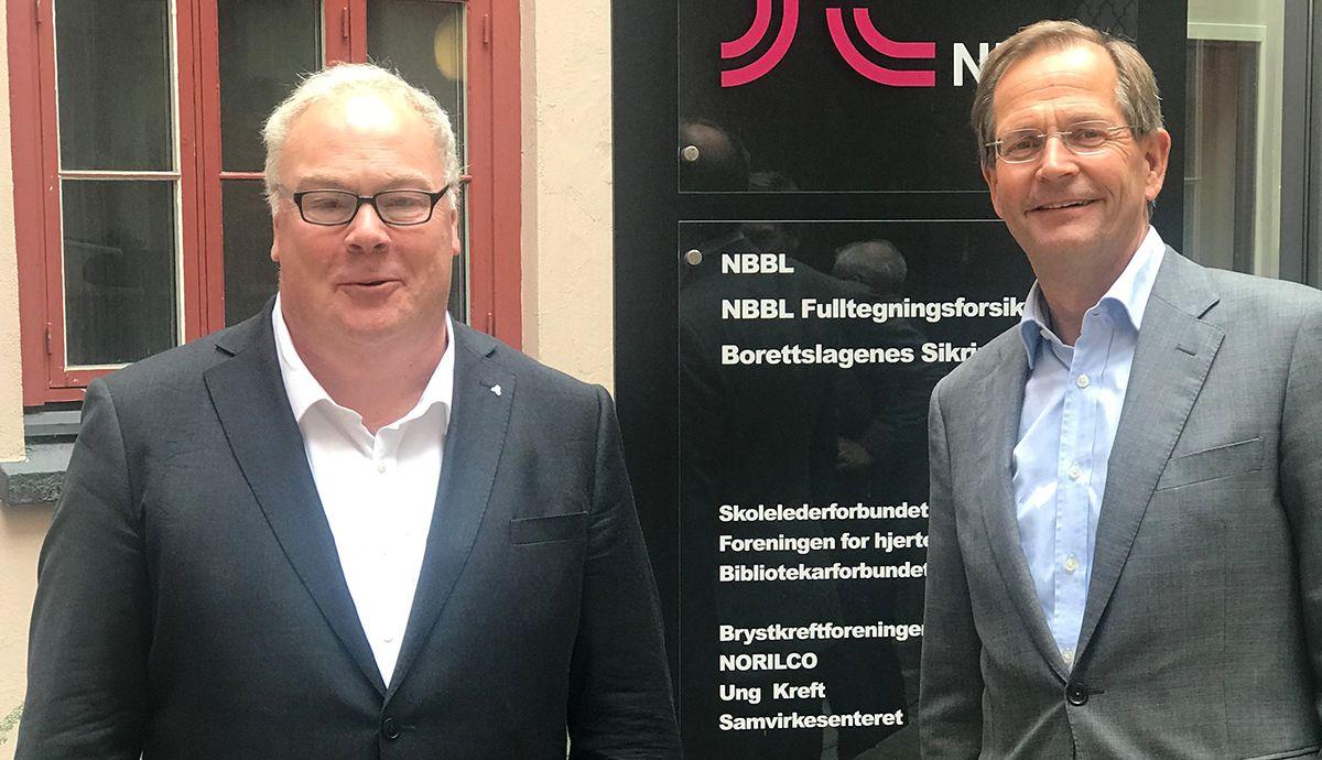 Bård Folke Fredriksen (t.v.) og Peder Chr. Løvenskiold. Foto: Anthon B Nilsen Eiendom