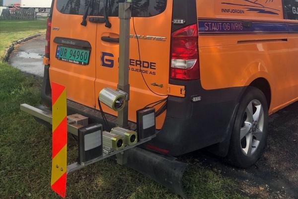 Kamerarigg på registreringsbil - datalyseanalyseverktøyet iSi inSight. Foto: iSi AS