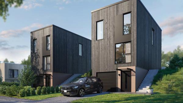 """Det nye kataloghuset """"Oslo"""", er det første huset hvor Systemhus har beregent klimagassutslipp."""