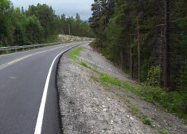 Fylkesveg 30 har i løpet av sommeren blitt utbedret mellom Bergset i Rendalen og Tynset. Foto: Kjetil Strømshoved, Innlandet fylkeskommune