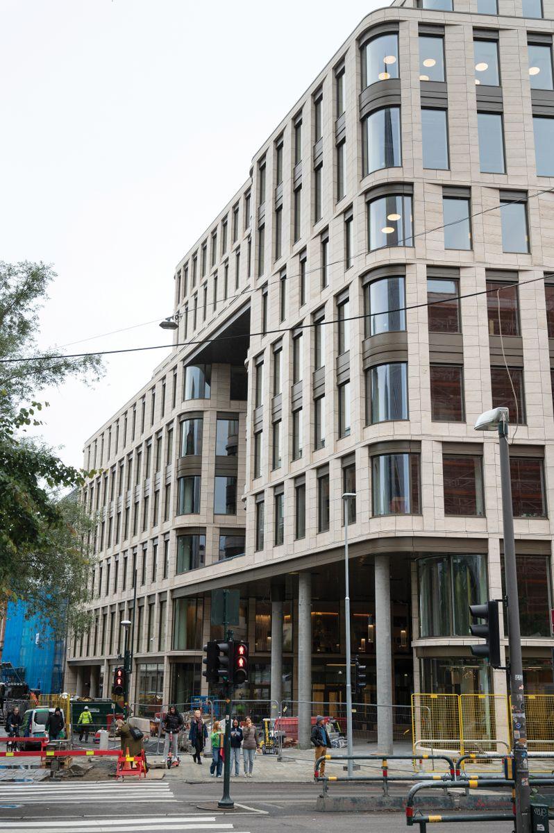 Universitetsgata 7-9 i Oslo, 23.9.2021. Foto: Trond Joelson, Byggeindustrien