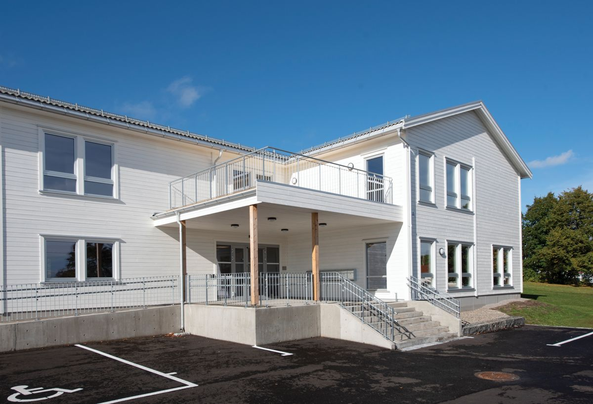 Bakkeåsen omsorgsboliger i Åsgårdstrand, 28.9.2021. Foto: Trond Joelson, Byggeindustrien