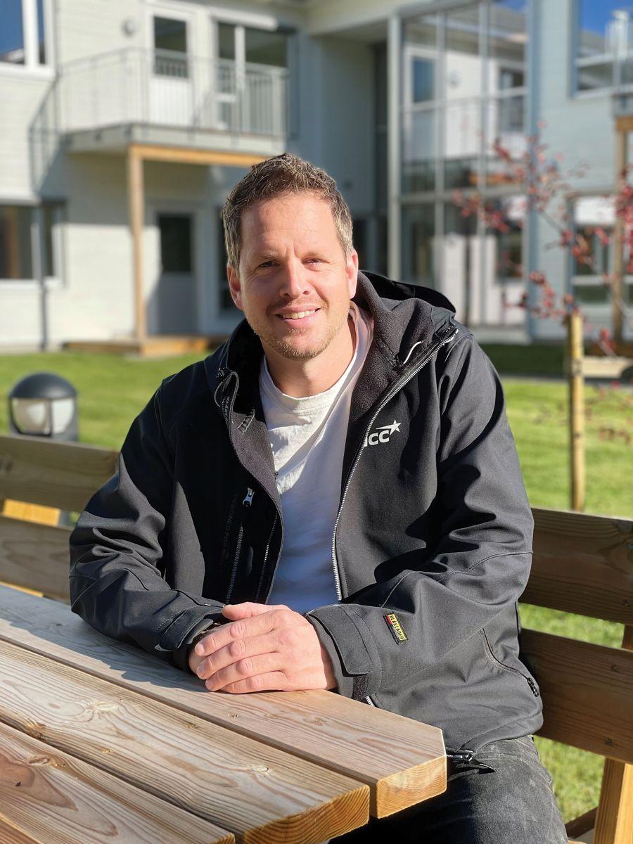 NCCs prosjektleder Jonatan Hjellnes, 28.9.2021. Foto: Trond Joelson, Byggeindustrien
