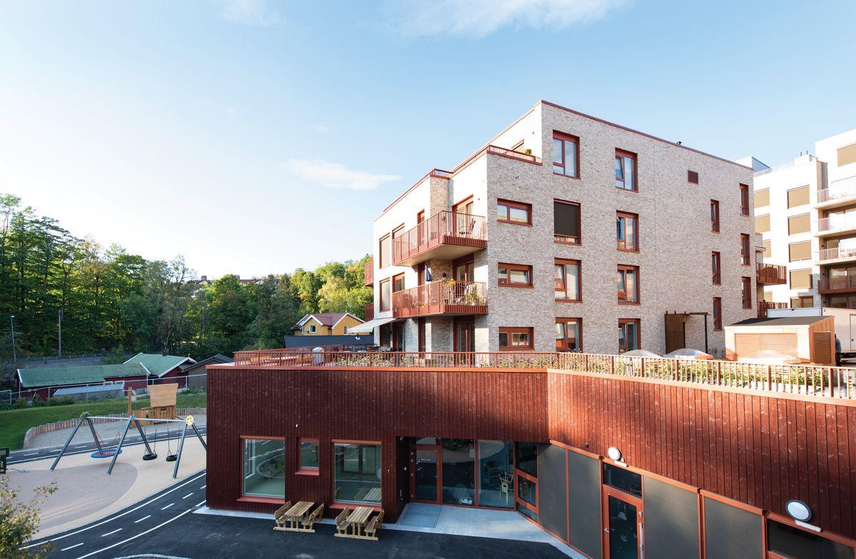 Bjørnegårdsvingen 11-13 i Sandvika, 30.9.2021.  Foto: Trond Joelson, Byggeindustrien