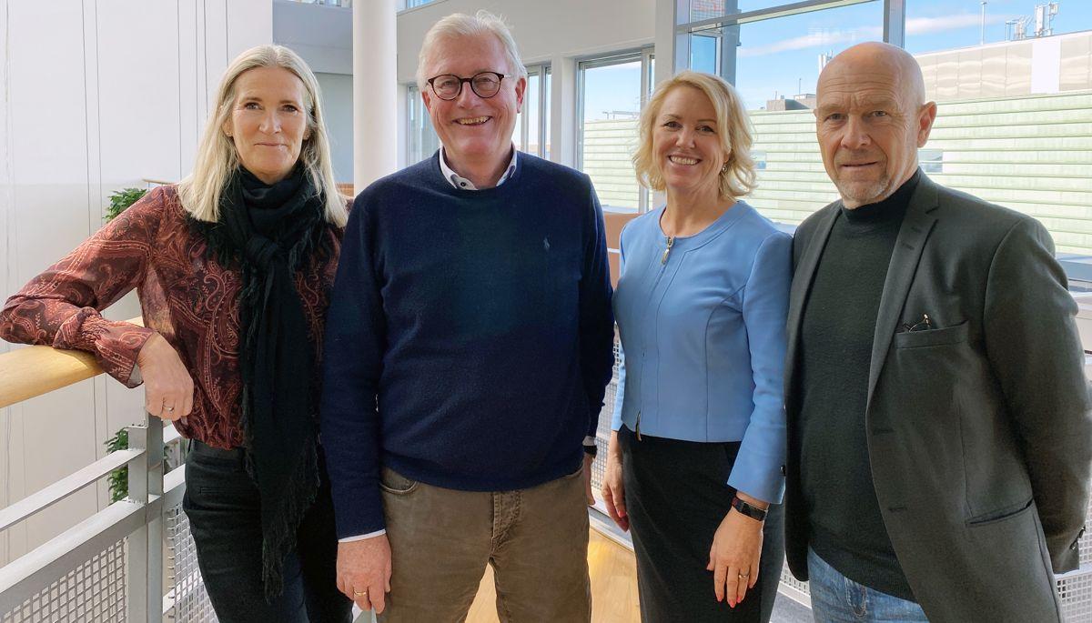 F.v. Kari Sandberg, Tore Strandskog, Liv Kari Skudal Hansteen og Egil Skavang. Foto: RIF